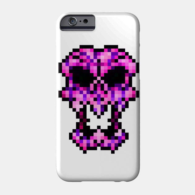 997d75503 PIXEL SKULL T-SHIRT - Art - Phone Case | TeePublic