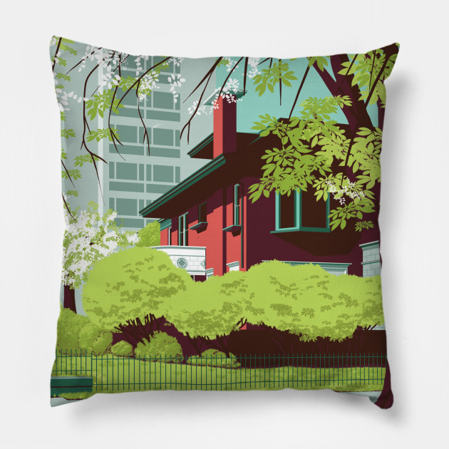 Red House in Lush Green