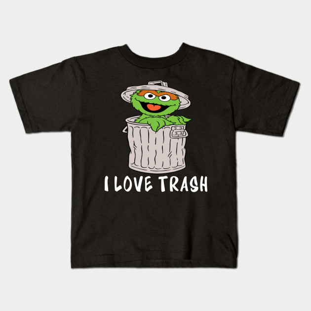 93e37bdf4 Muppets Oscar the Grouch I love Trash - Muppets - Kids T-Shirt ...