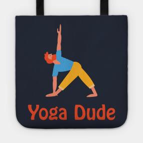 Yoga Dude Totes   TeePublic 50b753578b
