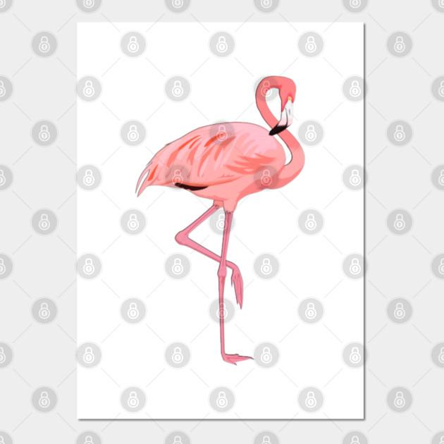 Flamant Rose Flamingo Affiche Et Impression D Art Teepublic Fr