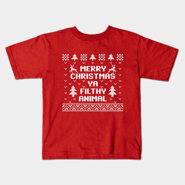 a2fca285d Merry Christmas Ya Filthy Animal Christmas Sweater - Christmas ...