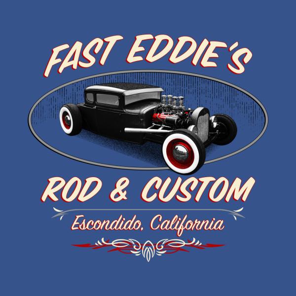 Fast eddies rod custom vintage sticker teepublic