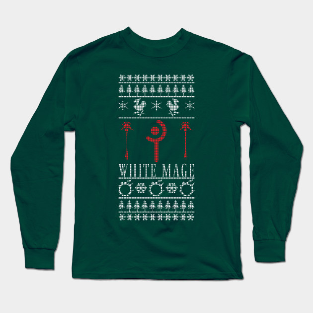 Blue And White Christmas Sweater.Final Fantasy Xiv White Mage Ugly Christmas Sweater