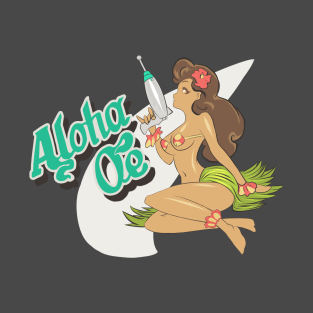 Space Dandy Aloha Oe t-shirts