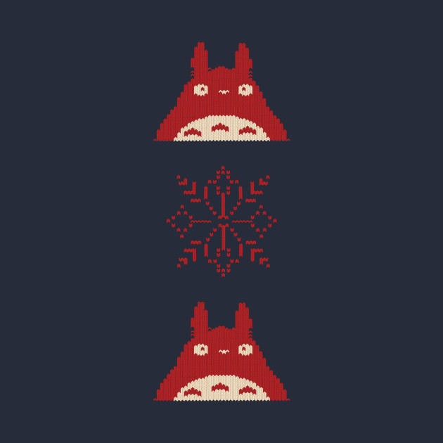 Totoro Christmas Sweater - Totoro - T-Shirt | TeePublic