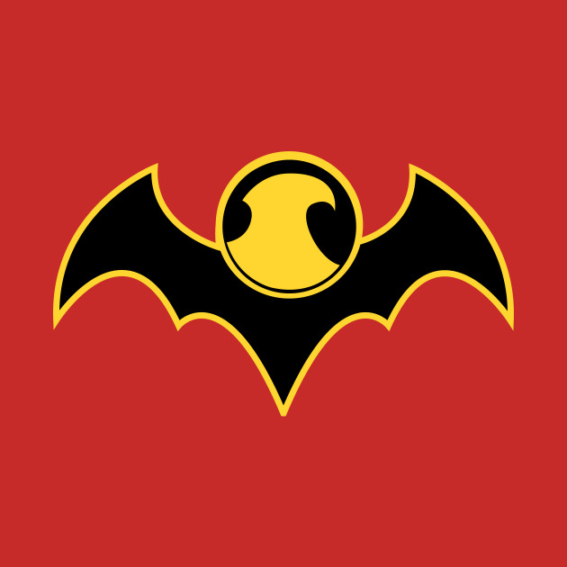 Red Robin Bat Logo Red Robin Logo T Shirt Teepublic