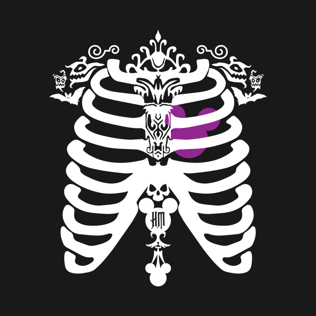 HM Chest Cavity purple/white by Topher Adam *ORIGINAL OWNER OF THIS ARTWORK