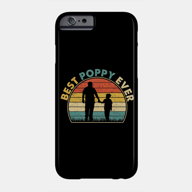 Best Poppy Ever Tshirt Vintage Retro Gift For New Papa Phone Case