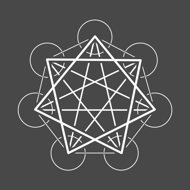 Heptagram (seven sided star) - Awesome Sacred Geometry Design
