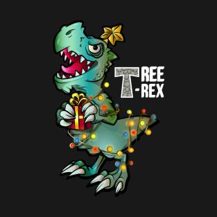 bbb7b4fb7 Main Tag Tree Rex Christmas T Rex Dinosaur Christmas Gift Boys T-Shirt