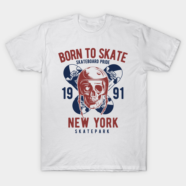 200b7efb3c80 Born to Skate: Skateboard Pride Skull Design - Skateboard - T-Shirt ...