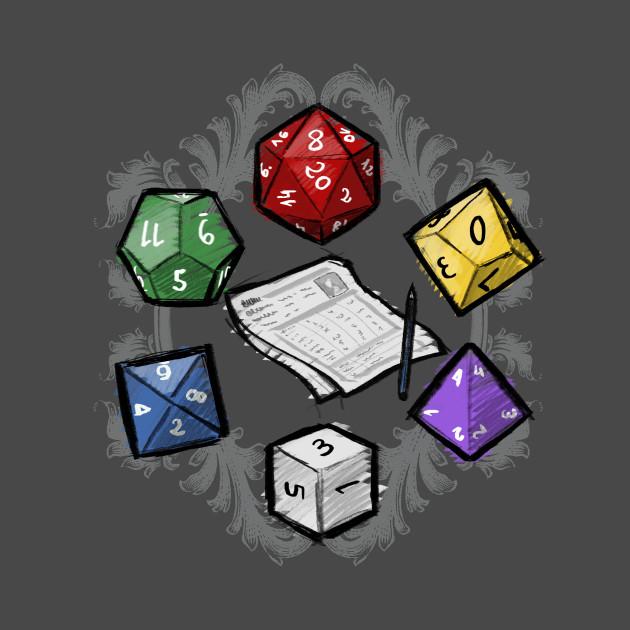 RPG dice set