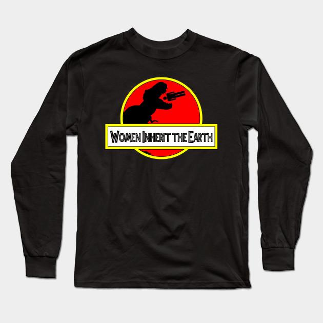 6ada4220 Women Inherit the Earth - Jurassic Park - Long Sleeve T-Shirt ...