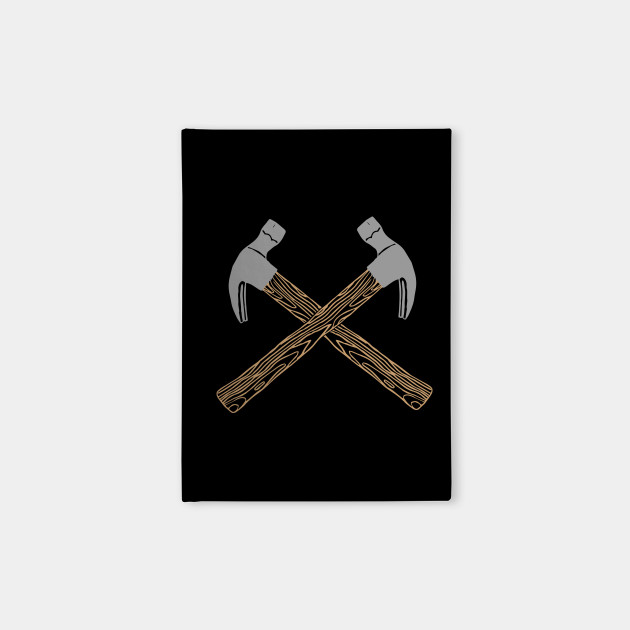 Crossed Hammer Tools Carpenter Mechanics Carpentry Hammer