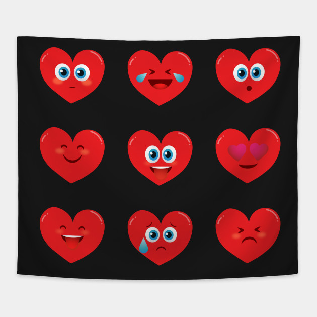 Heart Faces Emoji Shirt for Valentines Day