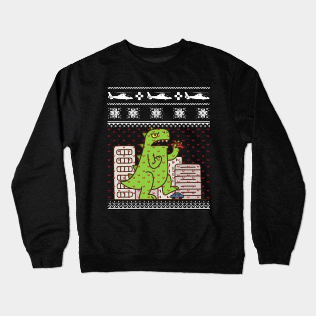 Godzilla Ugly Christmas Sweater Godzilla Crewneck Sweatshirt