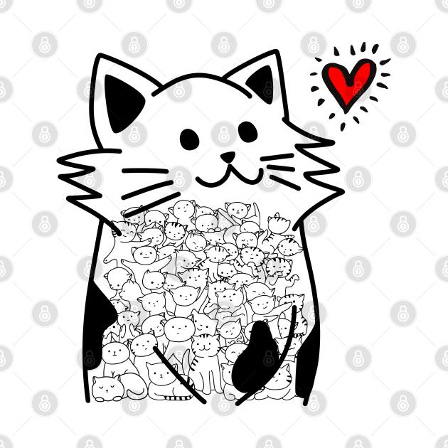 Cats Brighten Up My Heart (Black)