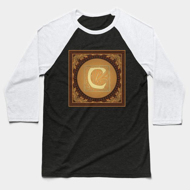 6ec3bdd7a Letter c monogram - Letter C - Baseball T-Shirt