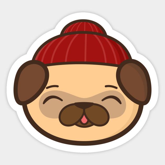 57136d2dbea Beanie Pug Is Kawaii And Cute - Pug - Sticker