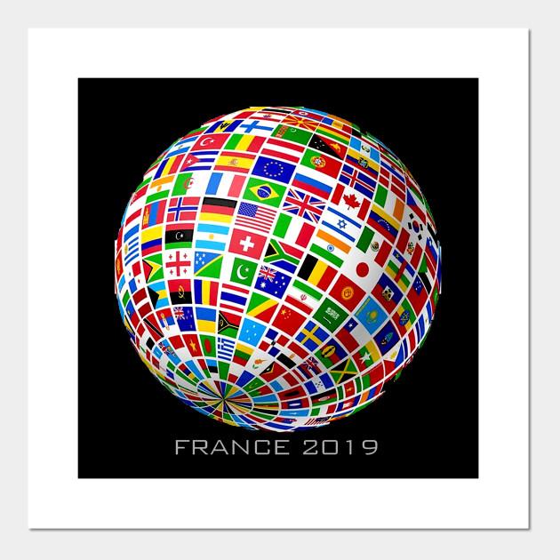 France 2019 Football Soccer Championship All 24 Teams Gift