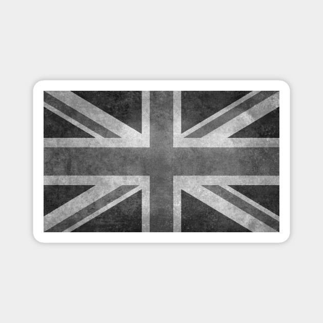 union uk black white MAGNET Black Jack Flag Magnetic Sticker