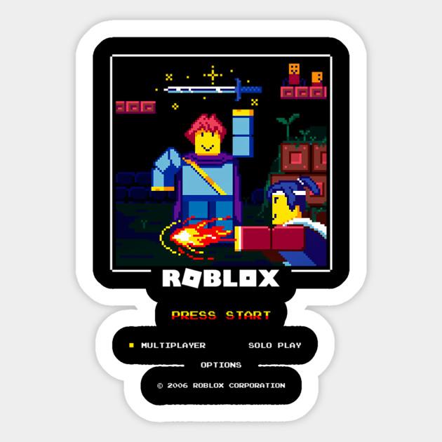 Funny Game Characters Retro Blox Roblox Sticker Teepublic
