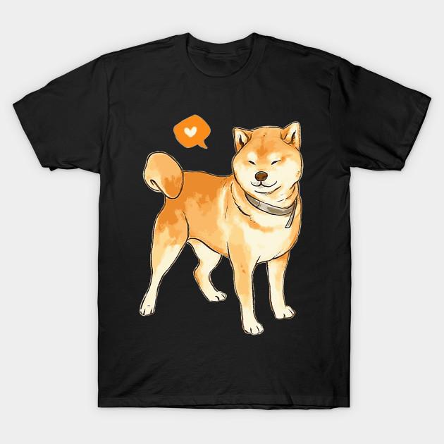 Top Cute Shiba Inu Heart Shirt Doge T-shirt - Cute Shiba Inu Heart @PM_19