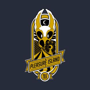 Pleasure Island 2016 (gold) t-shirts