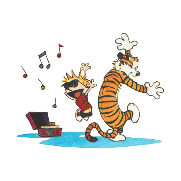 Calvin and hobbes Dance and Happy