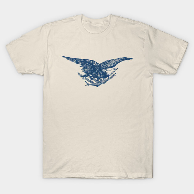 4ccc6c5492b Bald Eagle Guarding American Shield Olive Branch Vintage - Usa - T ...
