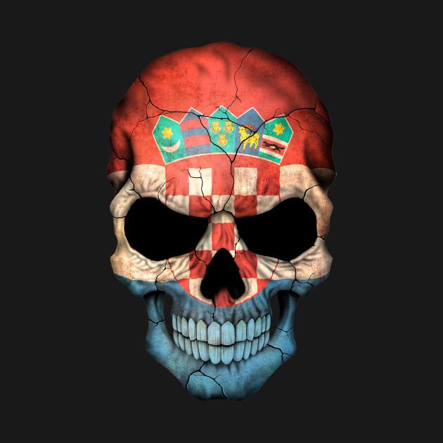 croatian flag skull croatia t shirt teepublic