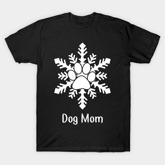 Snow Dog Paw Christmas Gift For Dog Lovers T-Shirt