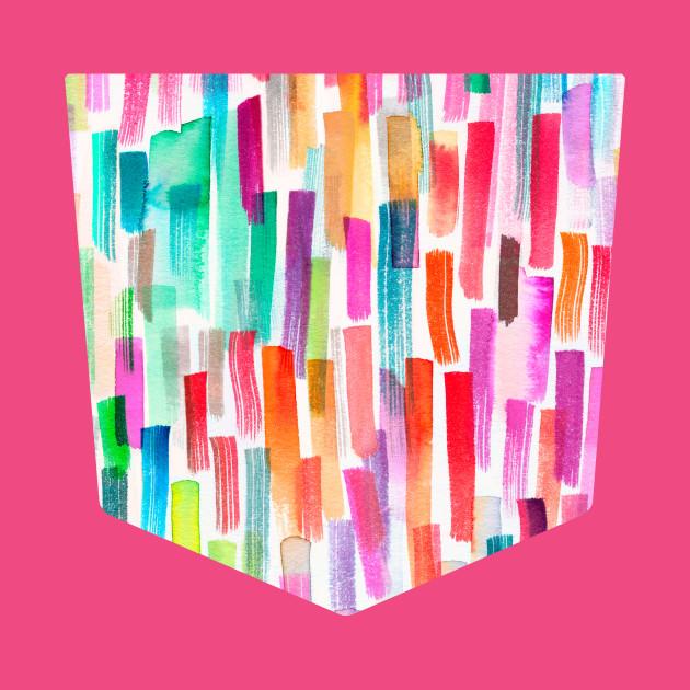 Pocket - Colorful Brushstrokes Multicolored