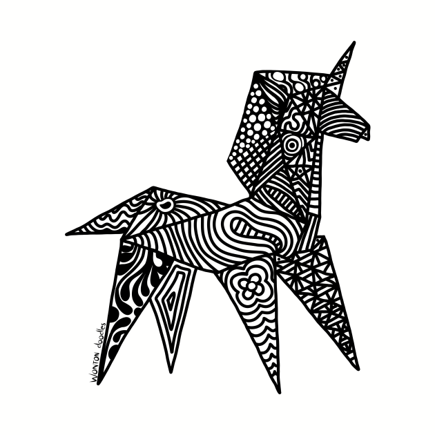 Unicorn Origami Illustration