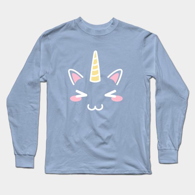 8eac7f24 Kawaii Unicorn Face,women's tshirt,unicorn gift,unicorn birthday party,  unicorn lover,pastel unicorn,kawaii gear,unicorn collector,cute face T-Shirt  Long ...
