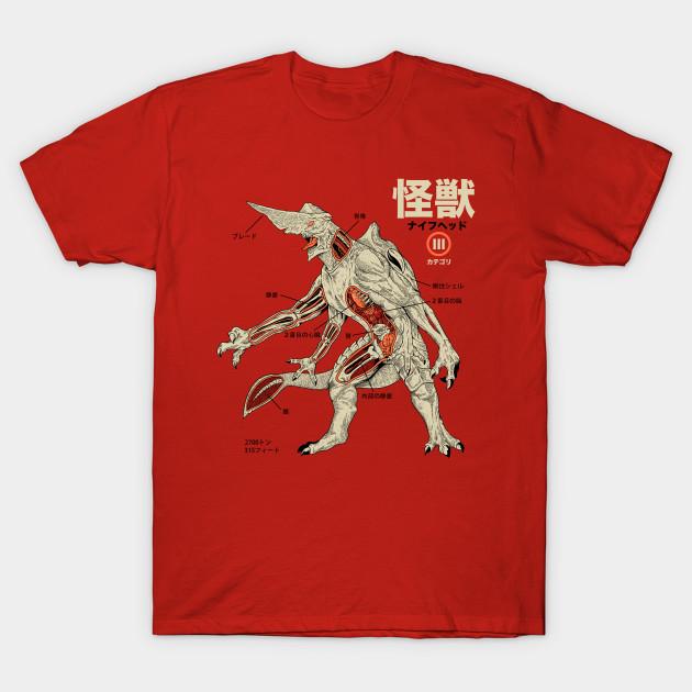 Kaiju Anatomy Kaiju T Shirt Teepublic