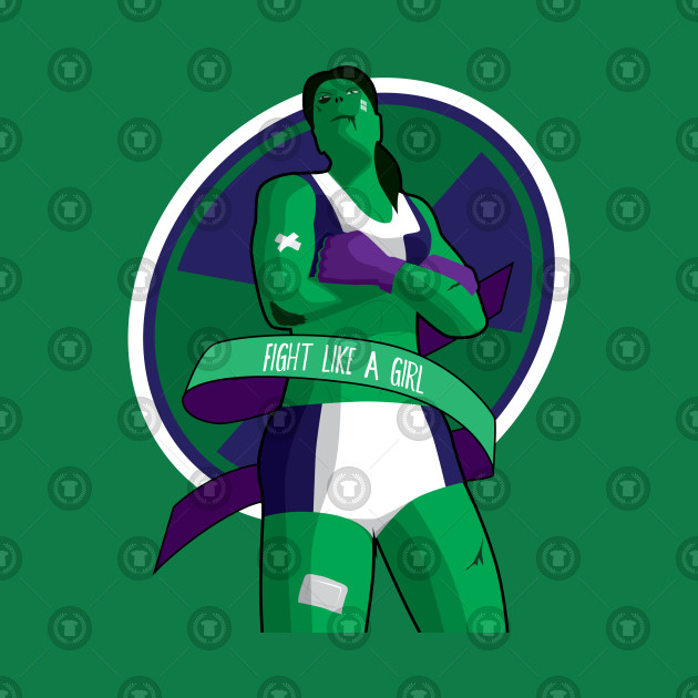 Fight Like A Girl She Hulk Marvel T Shirt Teepublic