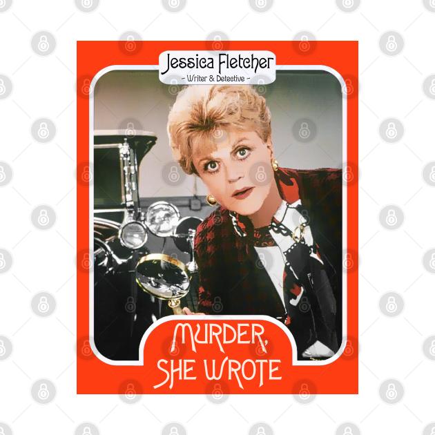 Jessica Fletcher Trading Card ))(( Murder She Wrote Fan Art