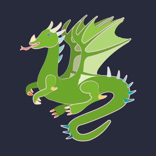 Adorable Green Dragon
