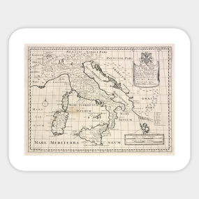 Genoa Italy Map Stickers TeePublic - Italy map genoa