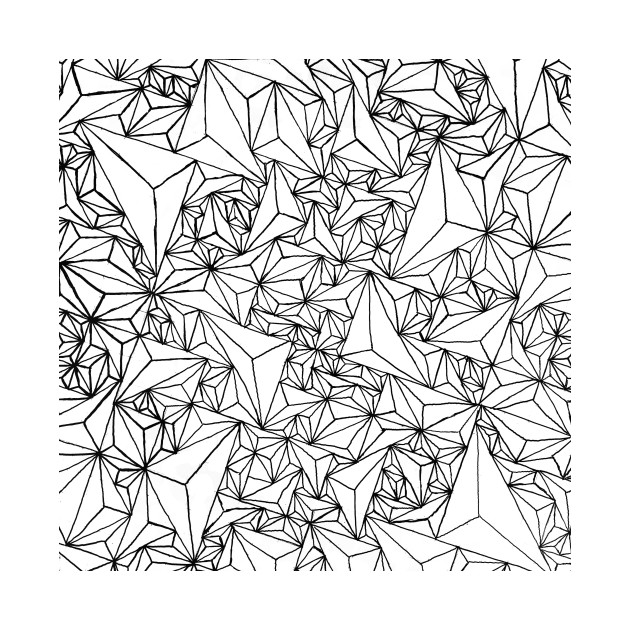 triangle grid grid tapestry teepublic
