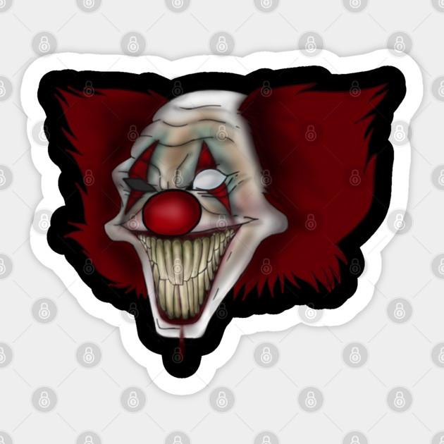 Wrinkles Clowns Sticker Teepublic