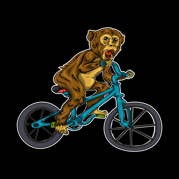 Monkey Cyclist Bicycle