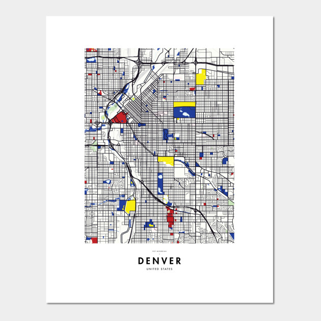 Denver (United States) Map x Piet Mondrian on world map denver, google maps denver, kansas map denver, map of america denver, us map denver, county map denver, speed limit map denver, colorado map denver, united states gold eagle coins, old map of denver, ancient map denver, map showing dallas and denver, street map denver, colfax map denver, europe map denver, ohio map denver, area code map denver, border states denver, map from dallas to denver,