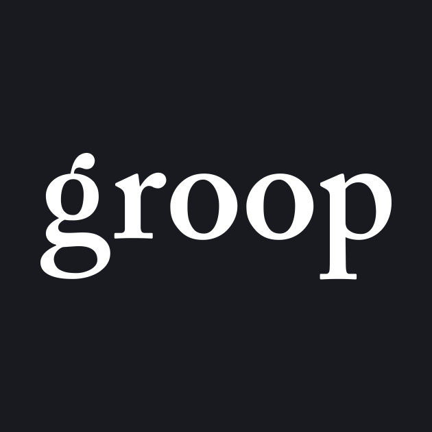 groop3: the biggening white logo
