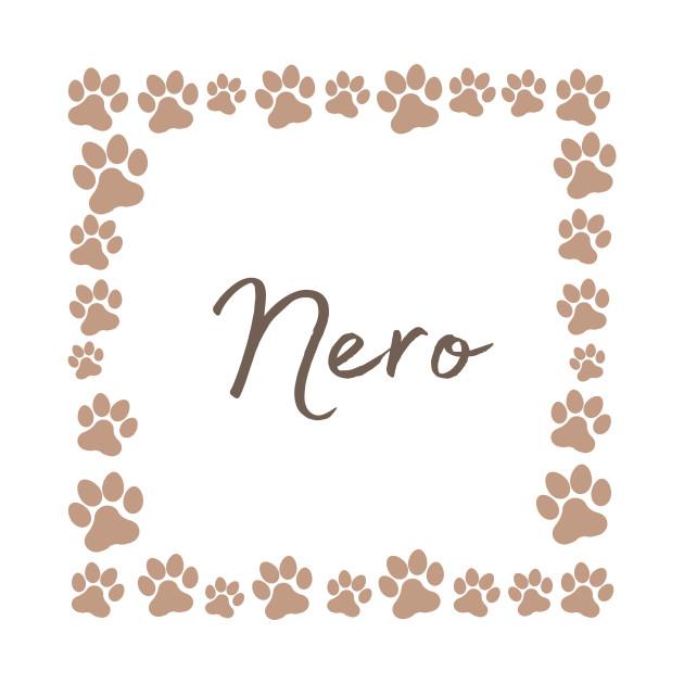 Pet name tag - Nero