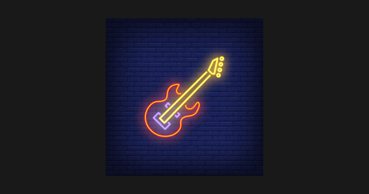 bb9dfe57a62 Cool Bass Guitar For Musicians Live Music Lovers - Neon Light Sign ...