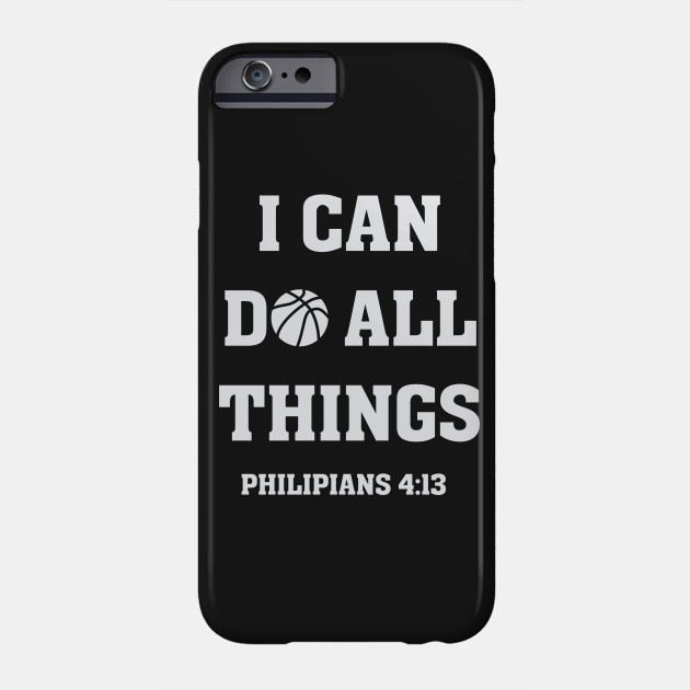 I Can Do All Things Christian Bible Verse Basketball T Shirt
