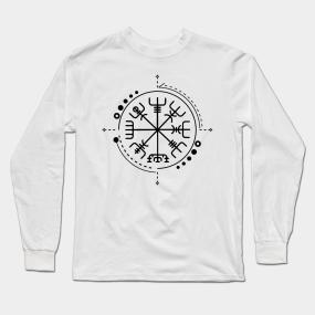 0777356a Astral Viking Compass Long Sleeve T-Shirts   TeePublic